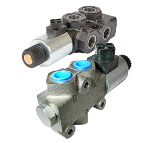 Solenoid Spool 3 Way Diverters