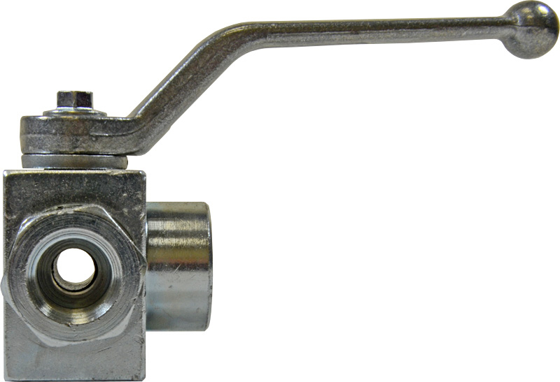 3-WAY BALL VALVE 3/8inch BSP WITH MOUNTING HOLES - T PORTED