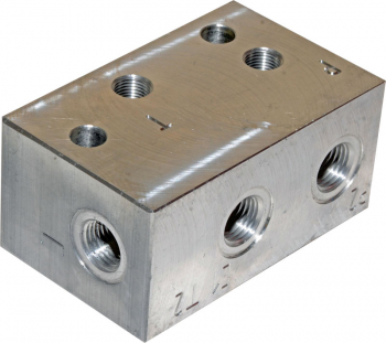 MANIFOLD FOR 3/4-16UNF 2 WAY CARTRIDGE VALVES