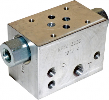 CETOP 3 MANIFOLD, DUAL P.O. CHECK, 1/4inch BSP PORTS