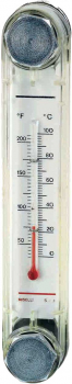 VERTICAL LEVEL GAUGE WITH THERMOMETER